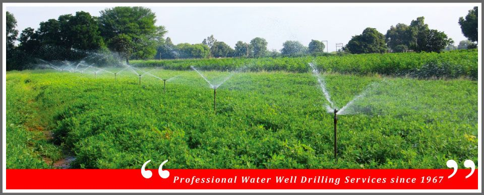 """Professional Water Well Drilling Services since 1967"" 
